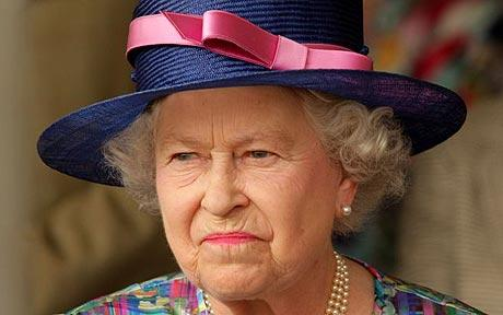 Queen Elizabeth unhappy