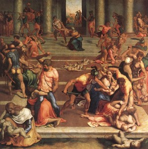 """Slaughter of the Innocents"" by Ghirlandaio Domenico"