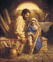Saint Joseph the Worker and Christ
