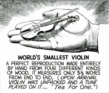 worlds smallest violin
