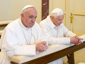 Pope Francis and Pope Emeritus