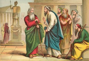 Paul rebuking Peter