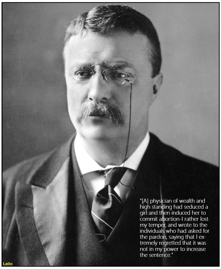 Theodore Roosevelt on abortion
