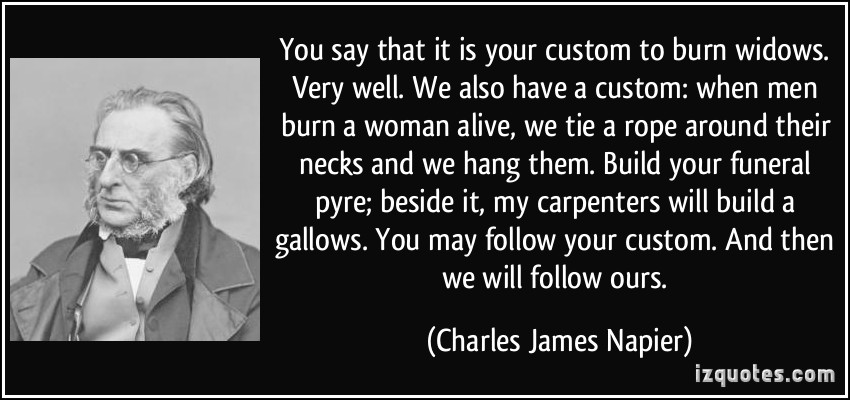 Quotes Suitable for Framing: Charles James Napier – The American ...