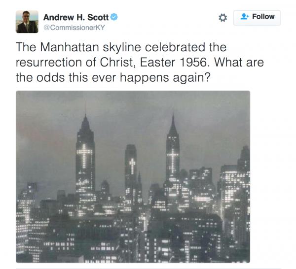 New York Skyline Easter 1956 Almost Chosen People