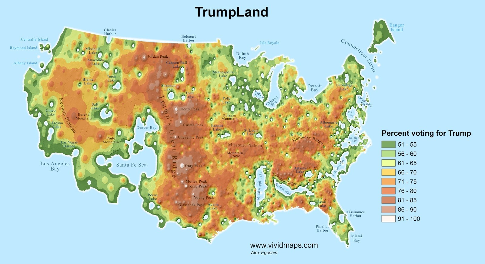 The Clinton Archipelago v. TrumpLand – The American Catholic