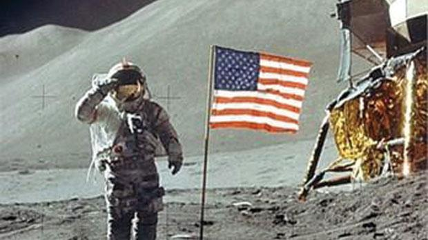 Image result for Neil Armstrong american flag moon